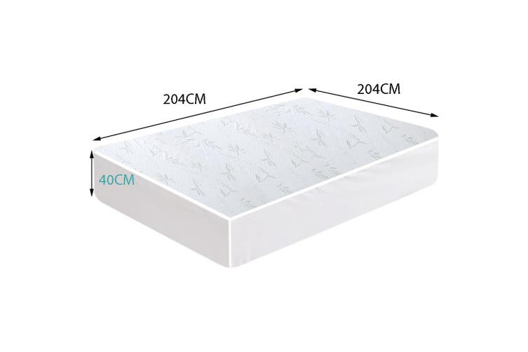 DreamZ Fitted Waterproof Breathable Bamboo Mattress Protector Super King Size