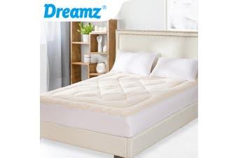 DreamZ Mattress Topper 100% Wool Underlay Reversible Mat Pad Protector Single