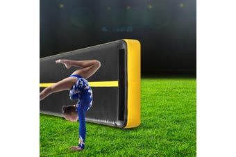 Centra 5X1M Air Track Inflatable Mat Airtrack Tumbling AirPump Gymnastics Yellow