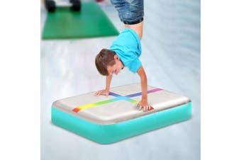 Centra 0.6X1M Air Track Block Inflatable Mat Airtrack Tumbling Gymnastics Blue
