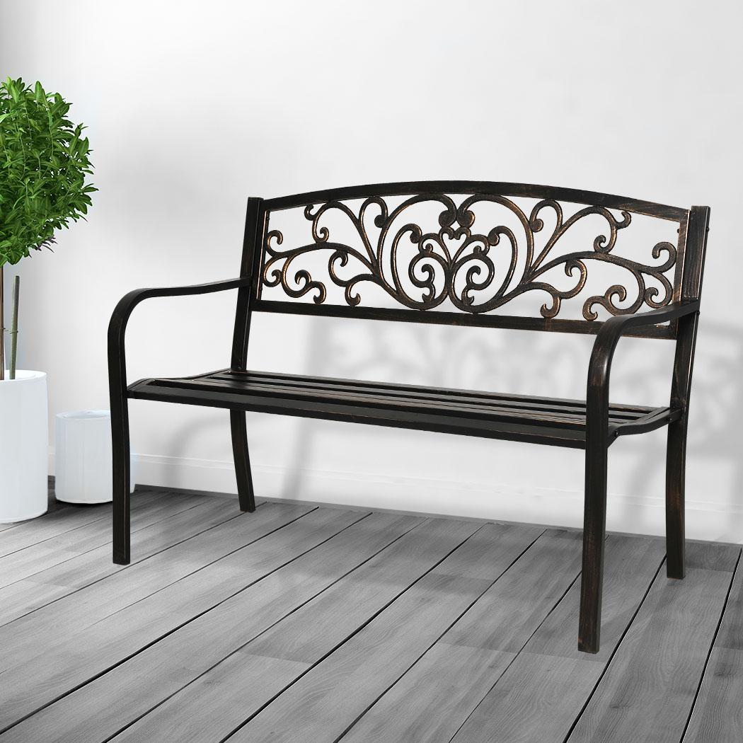 Picture of: Garden Bench Seat Outdoor Furniture Cast Iron Patio Benches Seats Lounge Chair Kogan Com