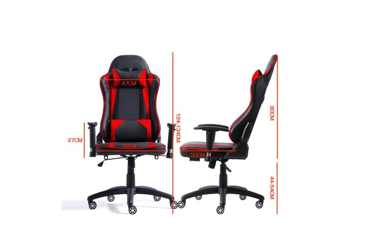 Levede Executive Gaming Office Chair Racing Computer PU Leather Recliner Red