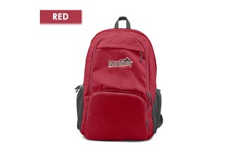 Mountview Foldable Backpack Lightweight Travel Camping Hiking Outdoor Waterproof Red