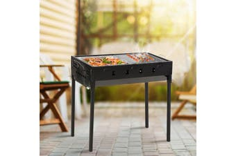 Charcoal BBQ Grill Protable Hibachi Outdoor Barbecue Set Camping Picnic Grills