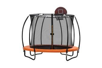 12FT Trampoline Round Trampolines Enclosure Kids Safety Net Outdoor Basketball