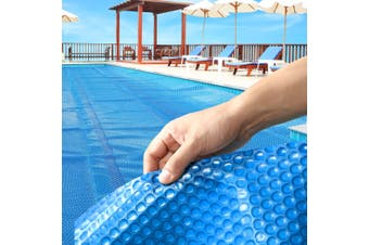 Solar Swimming Pool Cover 500 Micron Outdoor Bubble Blanket Heater Blue 8 X 4.2M