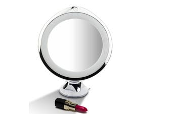 10x Magnifying Makeup Vanity Cosmetic Beauty Bathroom Mirror with LED Light
