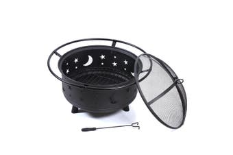 Fire Pit BBQ Grill Portable Fireplace Outdoor Heater Wood Camping Patio Garden