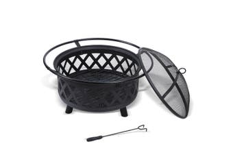 Fire Pit BBQ Grill Fireplace Outdoor Portable Camping Heater Patio Garden Pits