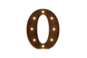 LED Metal Letter Lights Free Standing Hanging Marquee Event Party D?cor Letter O