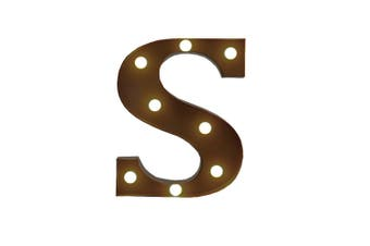 LED Metal Letter Lights Free Standing Hanging Marquee Event Party D?cor Letter S