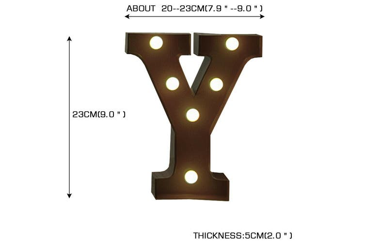 LED Metal Letter Lights Free Standing Hanging Marquee Event Party D?cor Letter Y