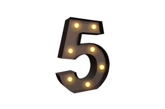 LED Metal Number Lights Free Standing Hanging Marquee Event Party D?cor Number 5