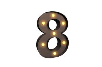 LED Metal Number Lights Free Standing Hanging Marquee Event Party D?cor Number 8