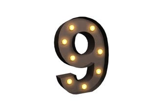 LED Metal Number Lights Free Standing Hanging Marquee Event Party D?cor Number 9