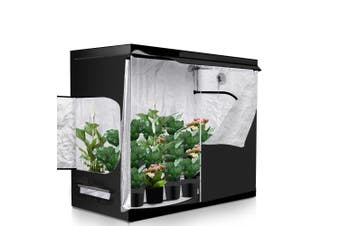 Garden Hydroponics Grow Room Tent Reflective Aluminum Oxford Cloth 120x120cm