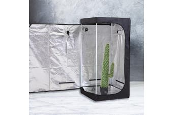 Garden Hydroponics Grow Room Tent Reflective Aluminum Oxford Cloth 75x75x160cm