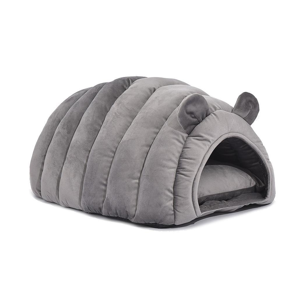 Cat House Bed Pet Dog Beds Bedding Round Nest Cave Large Igloo Castle Grey M Kogan Com