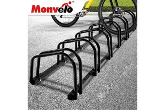 6 Bikes Stand Bicycle Bike Rack Floor Parking Instant Storage Cycling Portable