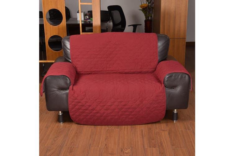 1 Seater Sofa Covers Quilted Couch Lounge Protectors Slipcovers Black