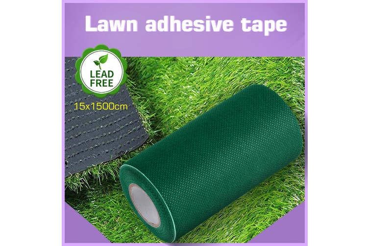 1 Roll 15Mx15cm Self Adhesive Artificial Grass Fake Lawn Joining Tape Olive green