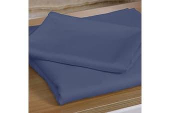 DreamZ 400TC 4 Pcs Natural Bamboo Cotton Bed Sheet Set King Single Bluish Grey