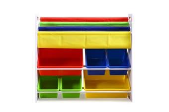 Levede 6 Bins Kids Toy Box Bookshelf Organiser Display Shelf Storage Rack Drawer