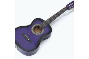 BoPeep 34 Inch Wooden Folk Acoustic Guitar Classical Cutaway Steel String w/ Bag