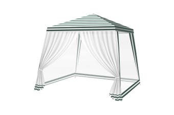 Mountview Pop Up Marquee Gazebo Outdoor Canopy 3x3m Wedding Tent Mesh Side Wall