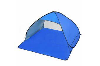 Easy Pop Up Portable Beach Canopy Sun Shade Shelter Outdoor Camping Fishing Tent Blue