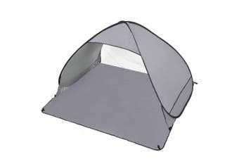 Easy Pop Up Portable Beach Canopy Sun Shade Shelter Outdoor Camping Fishing Tent Grey