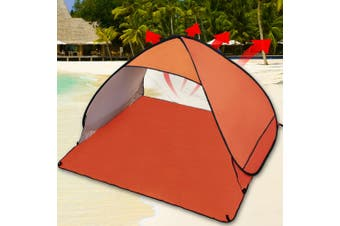 Easy Pop Up Portable Beach Canopy Sun Shade Shelter Outdoor Camping Fishing Tent Orange