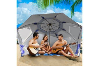 Portable Beach Umbrella Sun Shade Weather Shelter Pool Picnic Camping Blue Blue&Red&Turqoise