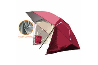 Portable Beach Umbrella Sun Shade Weather Shelter Pool Picnic Camping Red Blue&Red&Turqoise