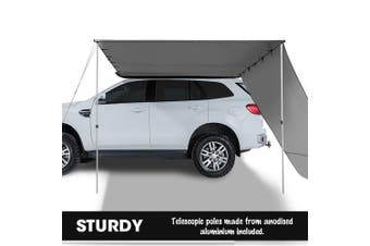 Mountview 2.5x3M Car Side Awning Extension Roof Rack Covers Tents Shades Camping Charcoal