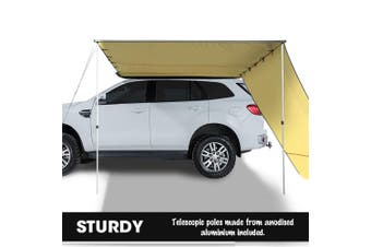 Mountview 2.5x3M Car Side Awning Extension Roof Rack Covers Tents Shades Camping Khaki