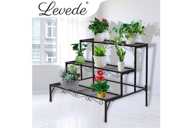 2x Levede Plant Stands Outdoor Indoor, Patio Plant Stands Tiered
