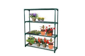 2x 4 Tier Plant Shelve Garden Greenhouse Steel Storage Shelving Frame Stand Rack