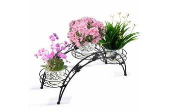 2X Plant Stand Outdoor Indoor Metal Black Flower Pot Shelf Garden Corner Shelves