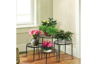 Levede Plant Stand Outdoor Indoor Metal Flower Pots Rack Corner Planter Shelf