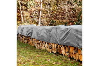 6x6M Heavy Duty Polyethylene Tarp Tarpaulin Waterproof Cover UV Resistant