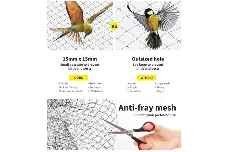 Anti Bird Netting Pest Net Commercial Fruit Tree Plant Knitted Nylon 15MM