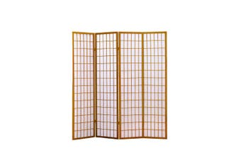 Levede 4 Panel Free Standing Foldable  Room Divider Privacy Screen Wood Frame