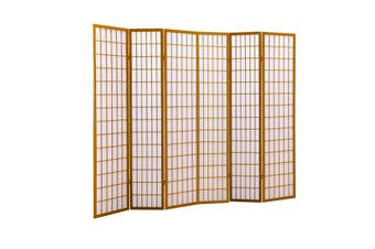 Levede 6 Panel Free Standing Foldable  Room Divider Privacy Screen Wood Frame