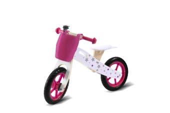 BoPeep Kids Balance Bike Ride On Toy Wooden Push Bicycle Trainer Outdoor Gift Orange,Pink,Black,Silver,Green
