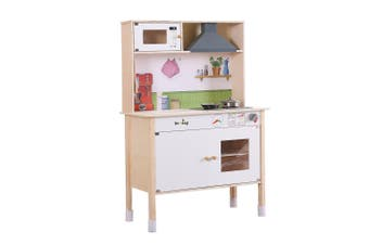 Bo Peep Kids Wooden Kitchen Pretend Play Set Cooking Toys Toddlers Cookware Gift