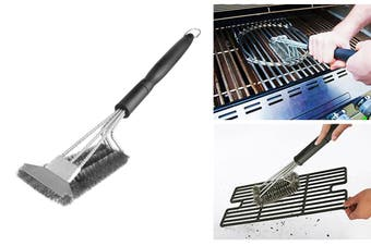 Grill Brush and Scraper Durable BBQ Cleaner Stainless Steel Wire Grill Brush Handheld Barbecue Cleaning Brush