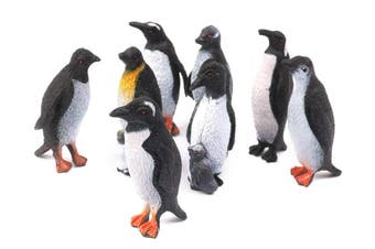 Penguin Collection Plastic Figure Model Ocean Animal Sealife Kids Children Toys(1Set,8Pcs/Set)