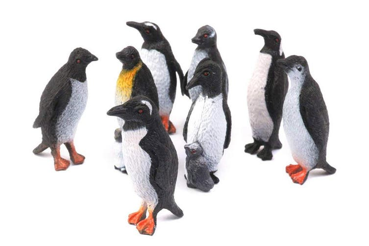 Penguin Collection Plastic Figure Model Ocean Animal Sealife For Babies and Children(2Set,8Pcs/Set)
