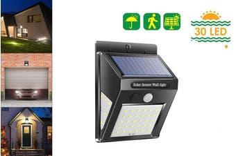 Solar Wall Lights Outdoor Motion Sensor 30LEDs Solar Lights Weatherproof Wall Mounted Lamp